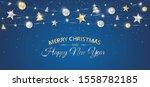 vector christmas banner with... | Shutterstock .eps vector #1558782185