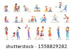 mother and child set.... | Shutterstock . vector #1558829282