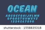 blue cartoon comics typography... | Shutterstock .eps vector #1558835318