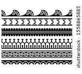 seamless border maori pattern... | Shutterstock .eps vector #1558865885