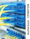 technology center with fiber...   Shutterstock . vector #155887238