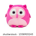 Cute Pinky Owl Doll Isolated O...
