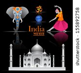 india vector set | Shutterstock .eps vector #155892758