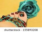 beautiful art nail design women'... | Shutterstock . vector #155893208