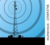 telecommunications radio tower... | Shutterstock .eps vector #155893748