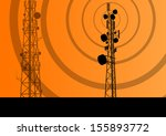 telecommunications radio tower... | Shutterstock .eps vector #155893772