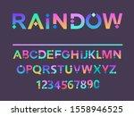 color rainbow very happy font  | Shutterstock .eps vector #1558946525