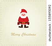 vector christmas card with... | Shutterstock .eps vector #155895092