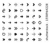 arrows collection. black arrow... | Shutterstock . vector #1558964228