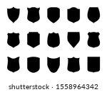 shield blank emblems. heraldic... | Shutterstock . vector #1558964342