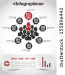 modern infographic business... | Shutterstock .eps vector #155896442