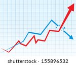 business graph and chart    Shutterstock .eps vector #155896532