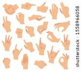 gesturing hands. hand with...   Shutterstock . vector #1558966058