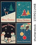 merry christmas postcards ... | Shutterstock .eps vector #1559011448