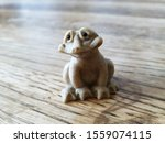 Stone Doll Frog Sculpture For...