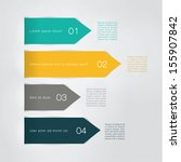 vector arrow template. four... | Shutterstock .eps vector #155907842