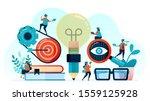 vector illustration of idea and ... | Shutterstock .eps vector #1559125928