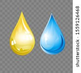 realistic drops isolated on the ... | Shutterstock .eps vector #1559126468