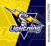 lightning hand esport logo... | Shutterstock .eps vector #1559162705