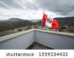 Peruvian Flag Located In The...