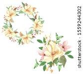 watercolor floral composition... | Shutterstock . vector #1559244302