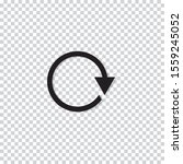 rotation icon design. repeat or ... | Shutterstock .eps vector #1559245052