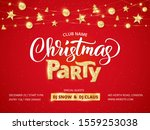 christmas party poster template.... | Shutterstock .eps vector #1559253038