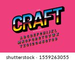 vector of stylized modern font... | Shutterstock .eps vector #1559263055