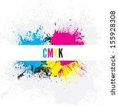 cmyk paint splatters | Shutterstock .eps vector #155928308