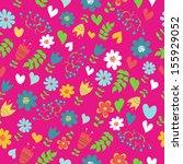 flowers seamless pattern | Shutterstock .eps vector #155929052