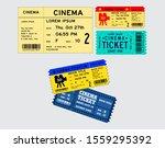 set of cinema tickets in... | Shutterstock .eps vector #1559295392