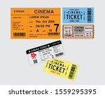 set of cinema tickets in... | Shutterstock .eps vector #1559295395