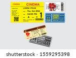 set of cinema tickets in... | Shutterstock .eps vector #1559295398