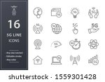 set of 5g icons  such as... | Shutterstock .eps vector #1559301428
