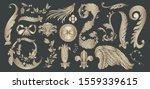 set design element gold... | Shutterstock .eps vector #1559339615