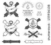 Set Of Vintage Nautical Labels  ...