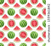 red pink watermelon whole  half ...   Shutterstock . vector #1559361842