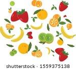 strawberry  banana  orange ...   Shutterstock .eps vector #1559375138
