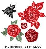 red rose  | Shutterstock .eps vector #155942006