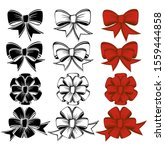 set of bows of various shapes. | Shutterstock .eps vector #1559444858