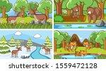 background scenes of animals in ... | Shutterstock .eps vector #1559472128
