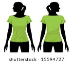 Women's T Shirt Template With...