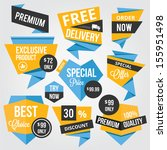 premium vector sale badges and... | Shutterstock .eps vector #155951498
