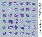 big set of cyber monday sale... | Shutterstock .eps vector #1559534588