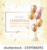 merry christmas background with ... | Shutterstock .eps vector #1559586092