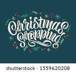 christmas shopping typography...   Shutterstock .eps vector #1559620208