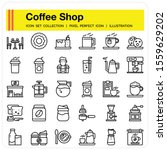coffee shop icons set  design...