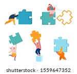 business people with huge... | Shutterstock .eps vector #1559647352