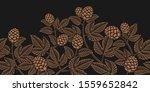 vintage seamless hop pattern  a ... | Shutterstock .eps vector #1559652842