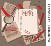 the diary of the detective.  ... | Shutterstock .eps vector #1559652995